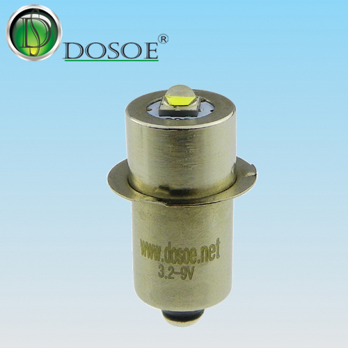 LED Flashlight Bulb 3.2V-9V /3W / P13.5S
