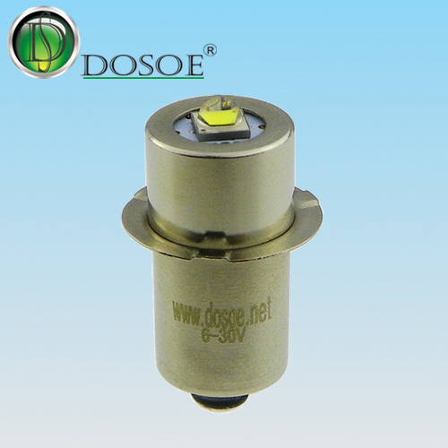Tooling LED Flashlight Bulb  6V-30V / 1W / P13.5S