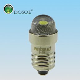 LED conversion bulb for flashlights   3.2V-9V / 0.5W / E10