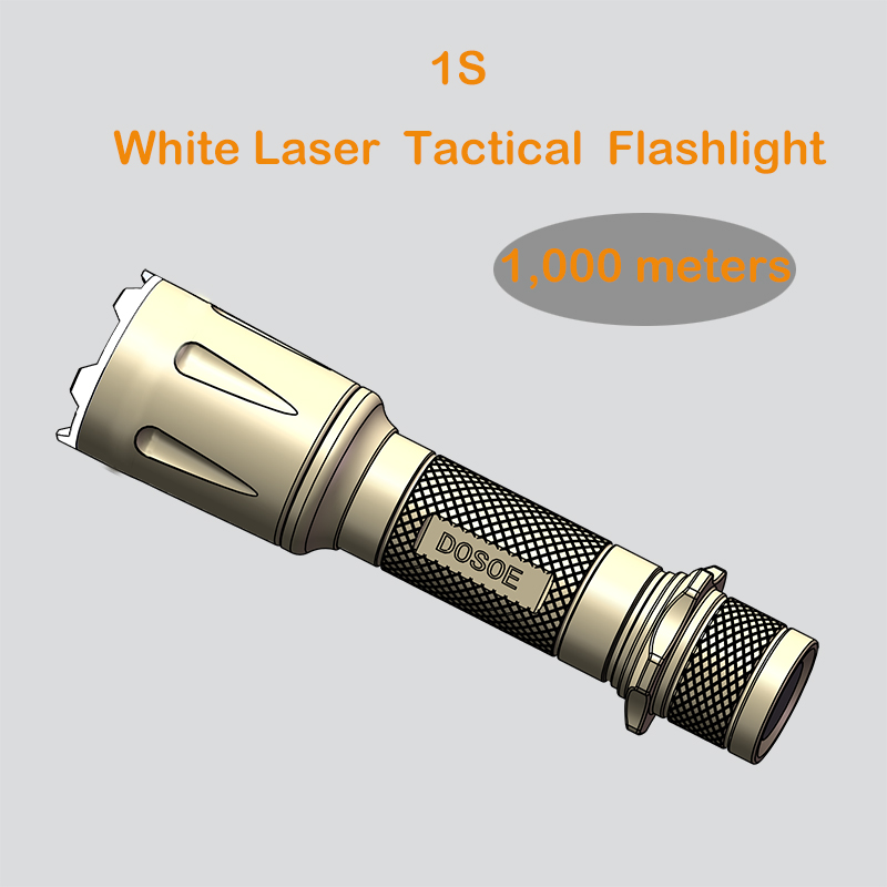 1S White laser tactical flashlight