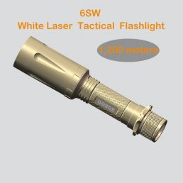 6SW white laser tactical flashlight